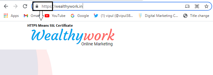 This image showing website using SSL certificate for Technical SEO ranking.